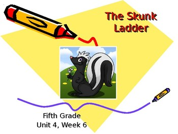 5th Grade Vocabulary Pearson Reading Street Unit 5 Week 1 PP - The Skunk Ladder