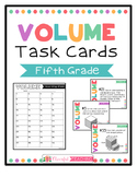Fifth Grade Volume Task Cards