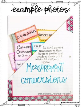 Fifth Grade Math Volume and Measurement Interactive Notebook
