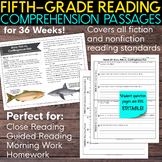 Fifth Grade Weekly Reading Comprehension [Nonfiction and Fiction]