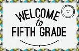 Fifth Grade Welcome Poster