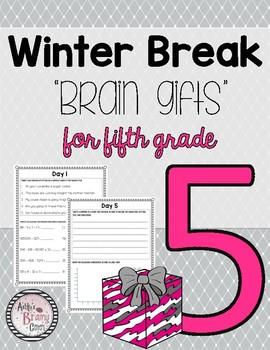 Fifth Grade Winter Break Packet