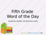 Fifth Grade Word of the Day