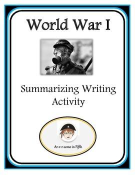 Fifth Grade World War I Summarizing Activity