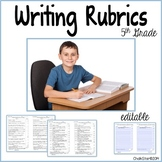 Fifth Grade Writing Rubrics