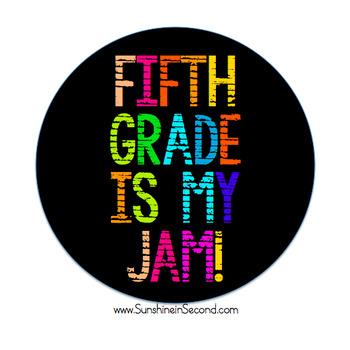 Fifth Grade is my Jam! Artwork