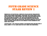 Fifth Science STAAR Review Set 1