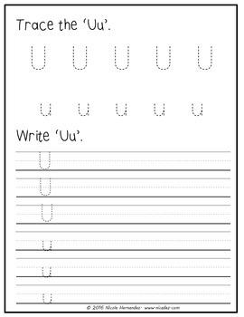 Fifth Week of Kindergarten Letter Review 'U' to 'Z'