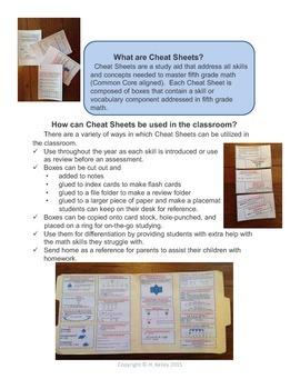 Fifth and Sixth Grade Math Cheat Sheets Bundle