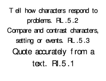 Fifth grade (5) I can statements in Harry Potter font