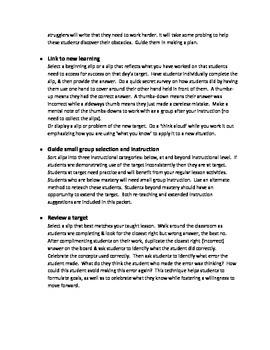 Fifth grade AO.3 formative and summative slips