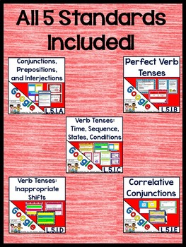 Fifth Grade ELA Grammar Practice Bundle L.5.1 for Google Drive