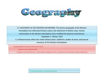 Fifth grade geography concepts .