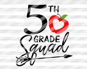 Fifth grade squad svg 5th grade svg School clipart Teacher tribe svg