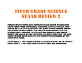 Fifth science STAAR Review Set 2