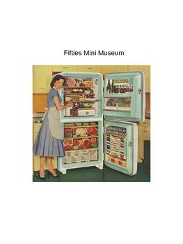 Fifties 1950 Culture in America Mini Museum