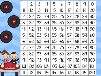 Fifties Day 1-120 Cards with Worksheets