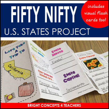 Fifty Nifty States {Flash Cards, Maps, Brochures & More!}