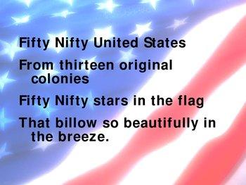 Fifty Nifty United States Lyrics Power Point