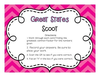 Fifty-Nifty United States: QR Code Scoot 6 Ways to Review!