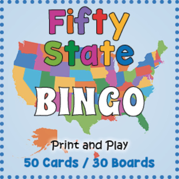 Fifty State Bingo Game