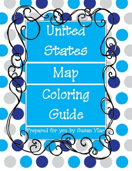 Fifty States Coloring Guide