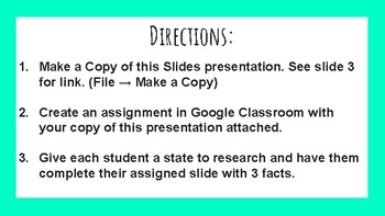 Fifty States Google Slides Template!