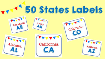 Fifty States Labels