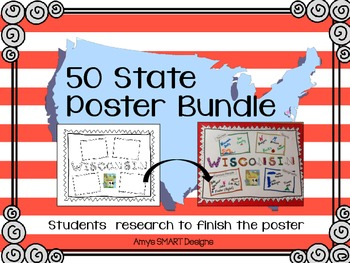 Fifty States Poster Bundle