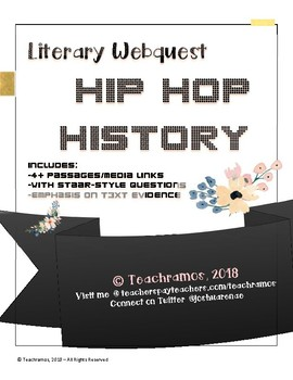 """""""Hip Hop History"""" Literary Webquest-End of Year Review w/ 4 High-Rigor Passages"""