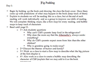 Fig Pudding Lessons