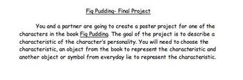 Fig Pudding Ralph Fletcher- Final Project