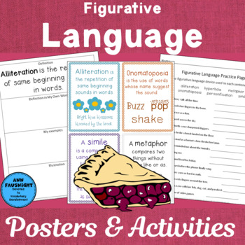 Figerative Language Posters and Activities
