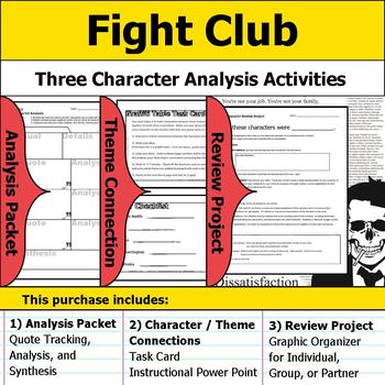 Fight Club - Character Analysis Packet, Theme Connections, & Project