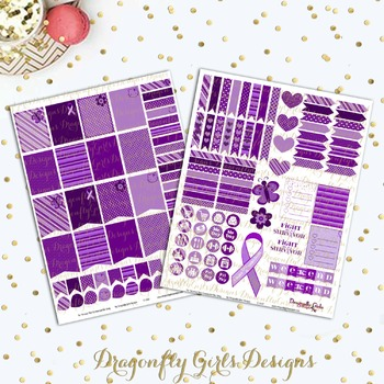 Fight Like A Survivor Lupus Awareness Printable Planner Stickers