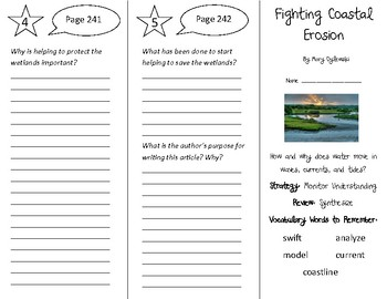 Fighting Coastal Erosion Trifold - 4th Grade Literacy by Design Theme 7