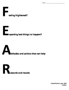 Fighting Fear and Anxiety