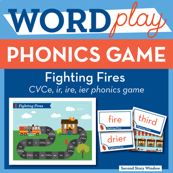 Fighting Fires CVCe, ire, ier, ir Phonics Game - Words Their Way Game