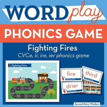 Fighting Fires CVCe, ire, ier, ir Phonics Game