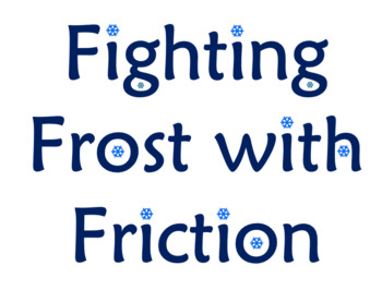 Fighting Frost with Friction STEM Activity