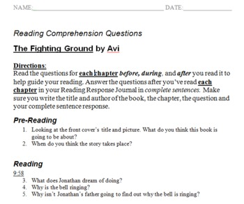 Fighting Ground Reading Comprehension Questions