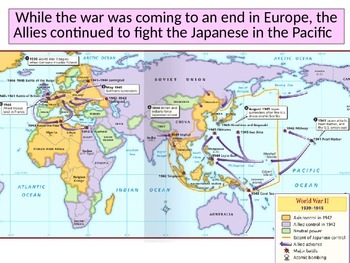 Fighting WWII in the Pacific Power Point for use with guided notes