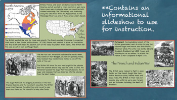 Fighting for Control of the Colonies Interactive Notebook