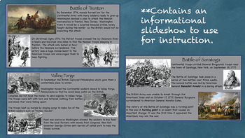 Fighting for Independence US History Unit