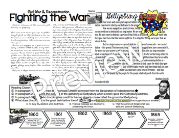 Fighting the Civil War PowerPoint and Infographic