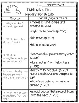 Fighting the Fire - Common Core Connections - Treasures Grade 2