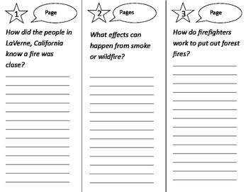 Fighting the Fire Trifold - California Treasures 2nd Grade Unit 2 Week 3