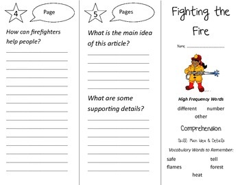 Fighting the Fire Trifold - Treasures 2nd Grade Unit 1 Week 3 (2009)