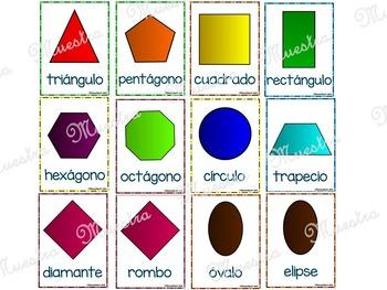 Figuras Geométricas Planas Posters Flash Cards By Educaclipart