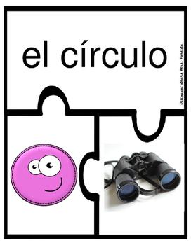 """Figuras  Geométricas """"Rompecabezas"""" Shape PuzzlesCenter 2D & 3D Bil Mrs. Partida"""